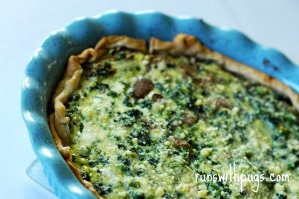 cheese & vegetable quiche