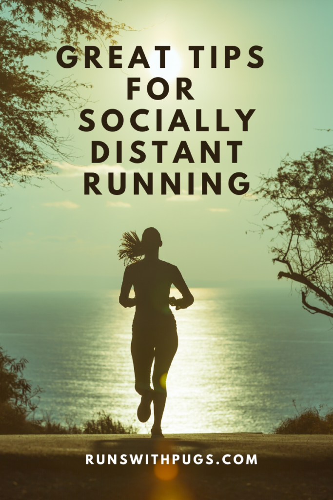 socially distant running