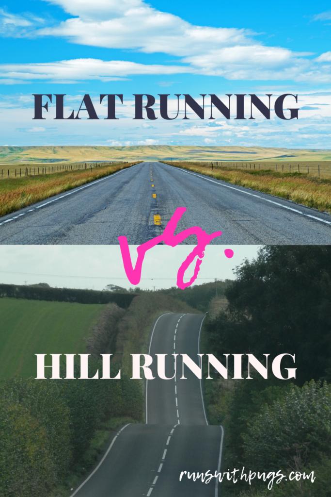 flat running vs hill running