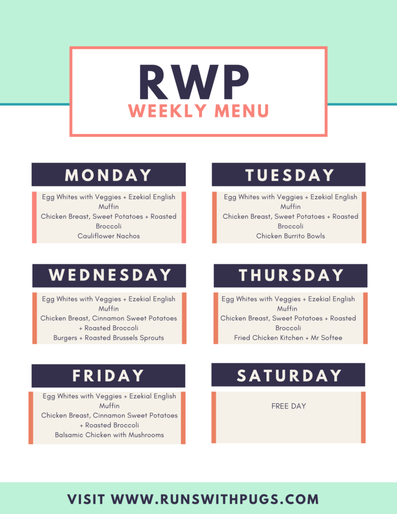 rwp weekly menu