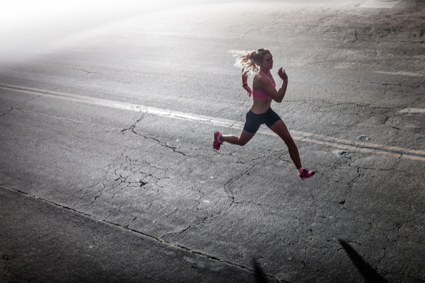 running eases grief